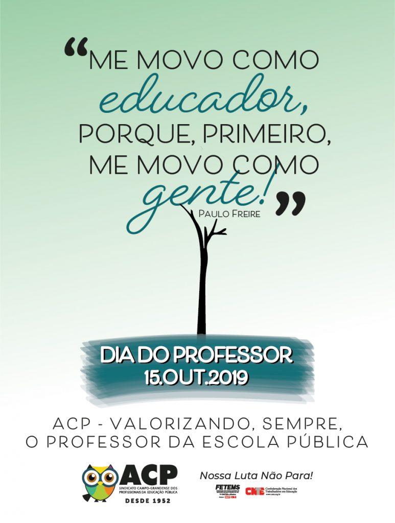 ACP lança campanha em comemoração ao Dia do Professor 2019