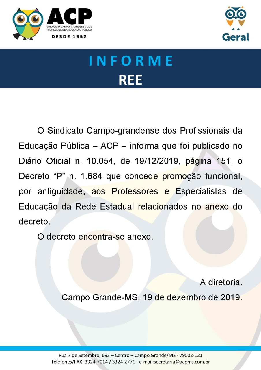 decreto promocao REE