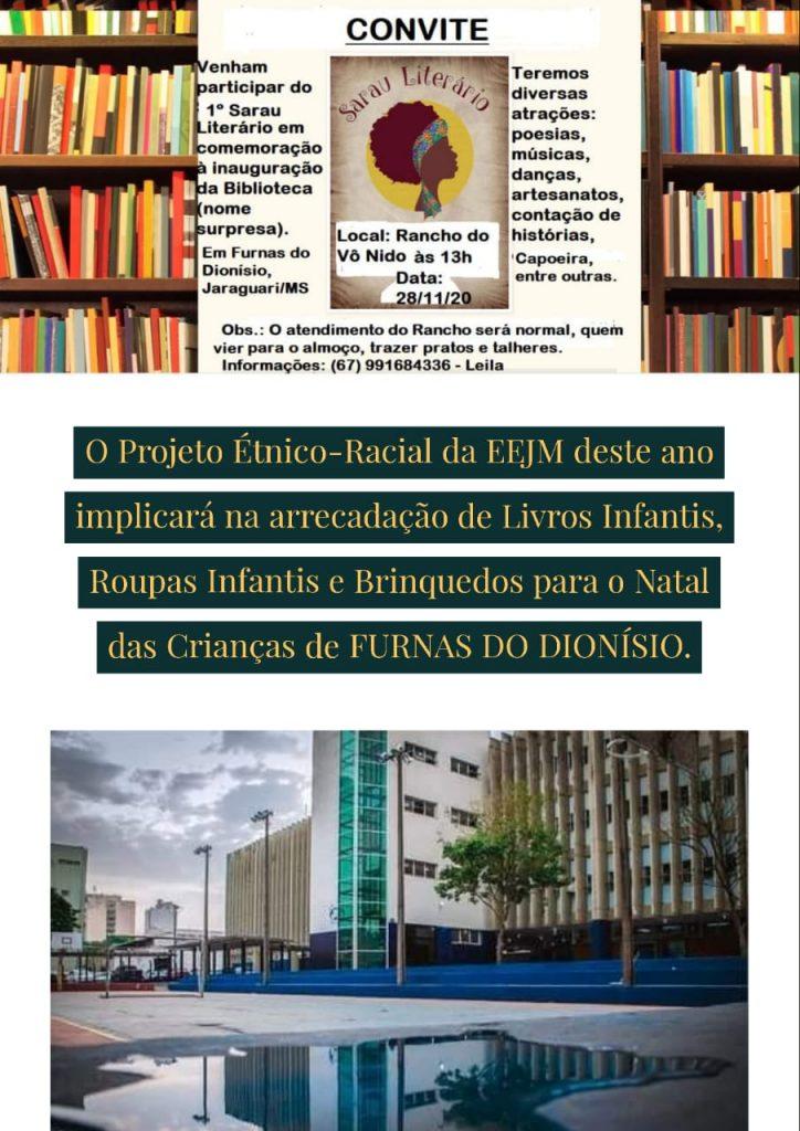 Projeto Diversidade Étnico-racial e Cultural arrecada livros, brinquedos e roupas para Comunidade Quilombola