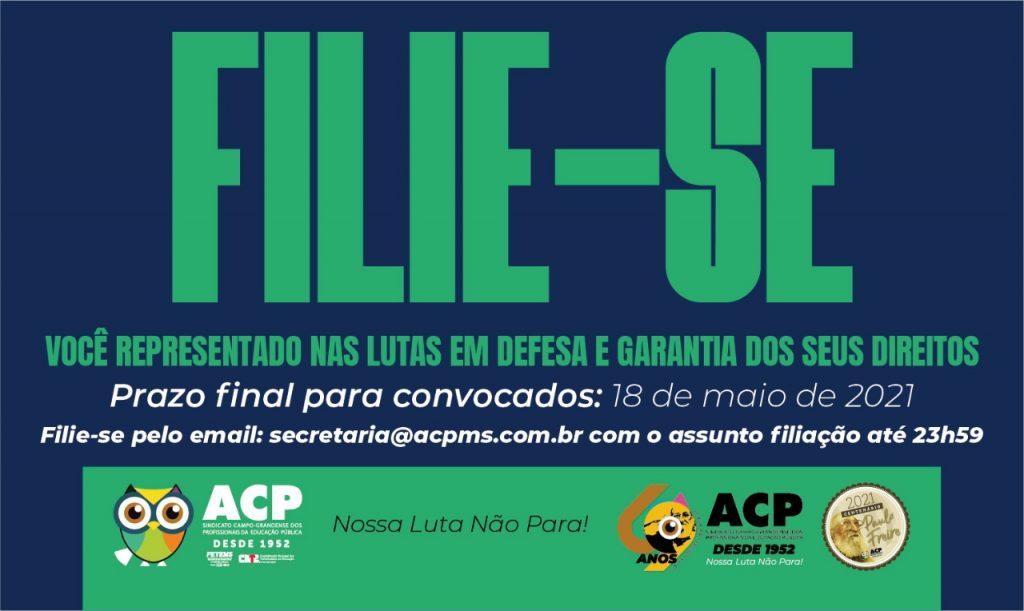 Filie-se! Campanha da ACP promove a filiação on-line para profissionais da educação