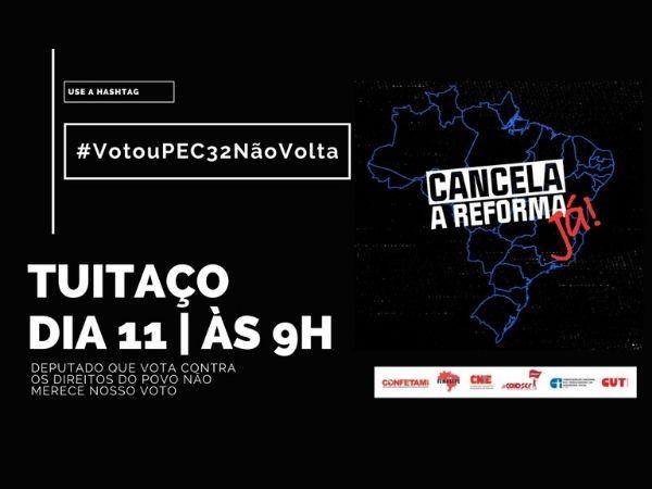 Contra a PEC 32, mobilização ocorrerá nas ruas e nas redes