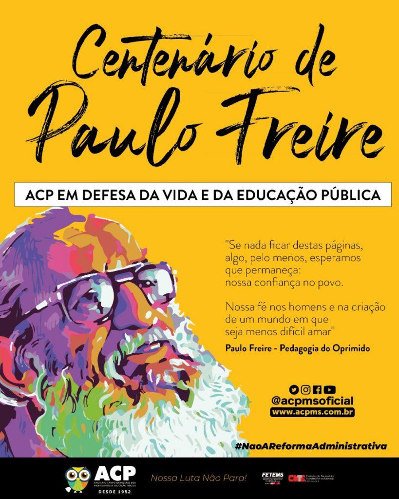 Paulo Freire 100 anos – Homenagem da ACP ao patrono da educação brasileira é promover sua mensagem por uma educação emancipadora e um mundo mais justo